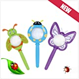 QiyunKids Cute Cartoon Plastic Handheld Insect Magnifier Originality Toy Gift for Kindergarten Pupil Color Random
