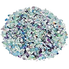 Varies Shapes and Sizes Quantity:1Pack(1lbs) Material:Crystal Shape:Irregular Weight(Approx):1 Pound(460Gram) Every pound of stones are crushed, screened,and magnetically cleaned. PLEASE KINDLY KNOW:Due to lighting effects, monitor's brightne...