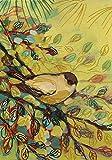 Toland Home Garden Goldfinch Waiting 28 x 40 Inch Decorative Artistic Finch Bird Branch House Flag