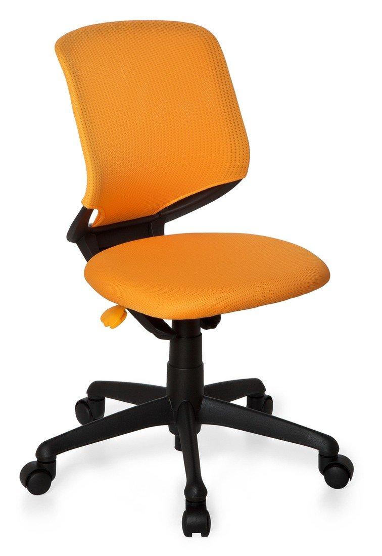 Sedia Girevole Per Bambini Kid Move Black Tessuto Arancione Nero hjh OFFICE 712150 poltrone