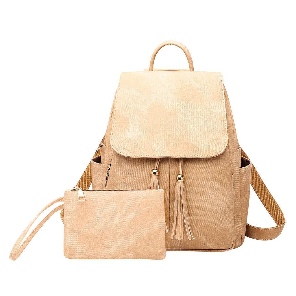 2PC Women Ladies Fashion Tassel Messenger Handbag TotesShoulderBackpacksBags