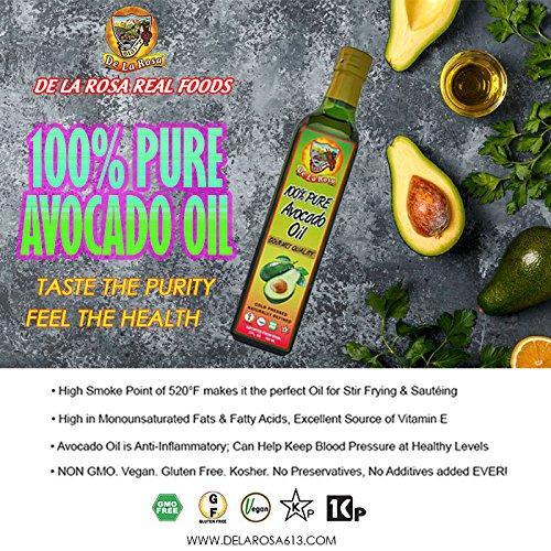 De La Rosa 100 Percent Pure Avocado Oil, 17 Fluid Ounce by de la Rosa (Image #3)