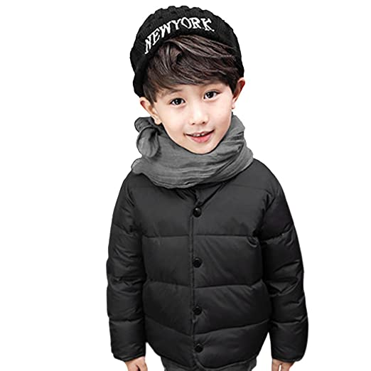 5691f3830 Amazon.com  Kids Toddler Winter Warm Down Jacket Padded Puffer Coat ...