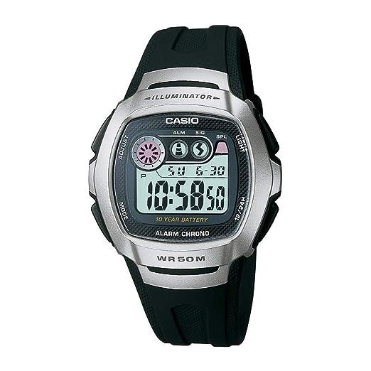 Casio W-210-1AVDF (I063) - Reloj de pulsera hombre, resina, color negro: Amazon.es: Relojes