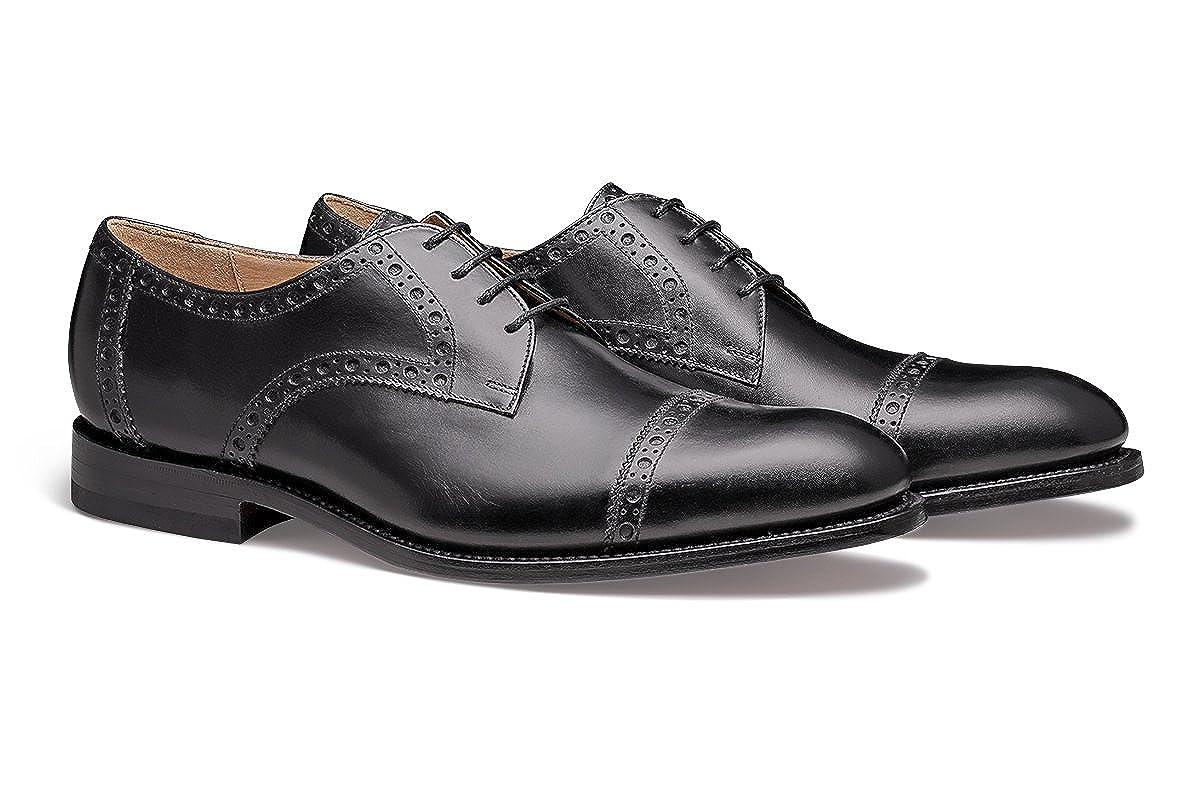 svart läder MORAL CODE nyton Hand Craftad Craftad Craftad Premium herrar läder Cap -Toe skor  online mode shopping