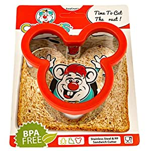 Crusty's Mickey Mouse Sandwich Cutter - High Quality Stainless Steel Crust & Cookie Cutter