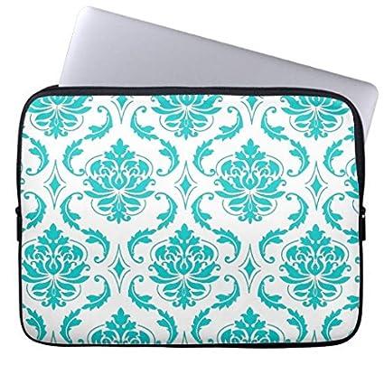 047899d6d028 Amazon.com: for Girls Modern Girly Aqua Vintage Damask Laptop Case ...