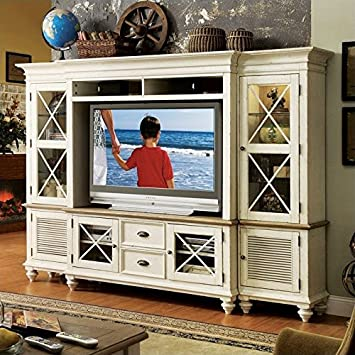 Beau Riverside Furniture Coventry Entertainment Center In Dover White