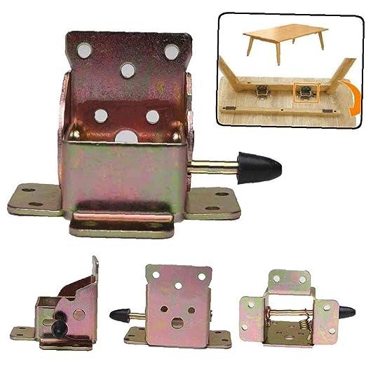 Case&Cover 4pcs Hierro Plegable Pata de la Mesa Plegable para ...