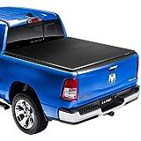 "Lund Genesis Elite Tri-Fold, Soft Folding Truck Bed Tonneau Cover   958192   Fits 2014 - 2018, 19 Legacy/Limited GMC/Chevy Sierra/Silverado 5' 8"" Bed"