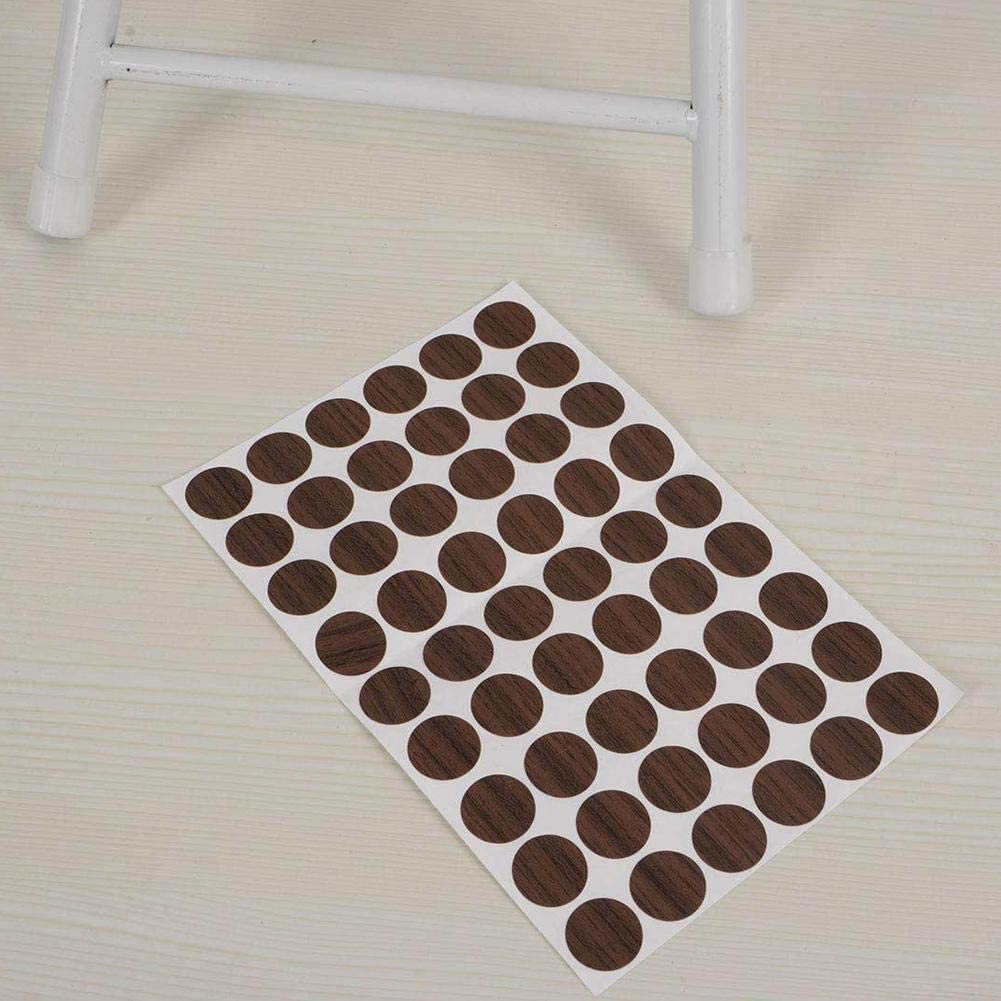 108 unidades Pegatinas de tapa de tornillo beige a prueba de polvo autoadhesivas para agujeros de tornillo de decoraci/ón de muebles de hogar