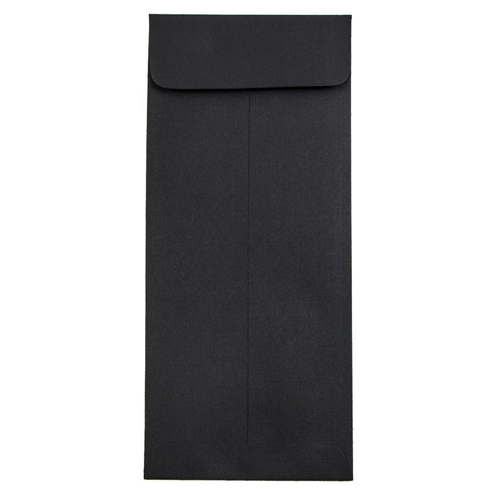 JAM PAPER #10 Policy Business Premium Envelopes - 4 1/8 x 9 1/2 - Black Linen - 50/Pack