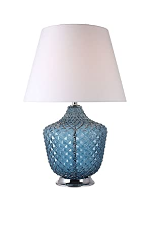 Lámpara de mesa cristal coloré azul estilo clásico Chic - Roma ...