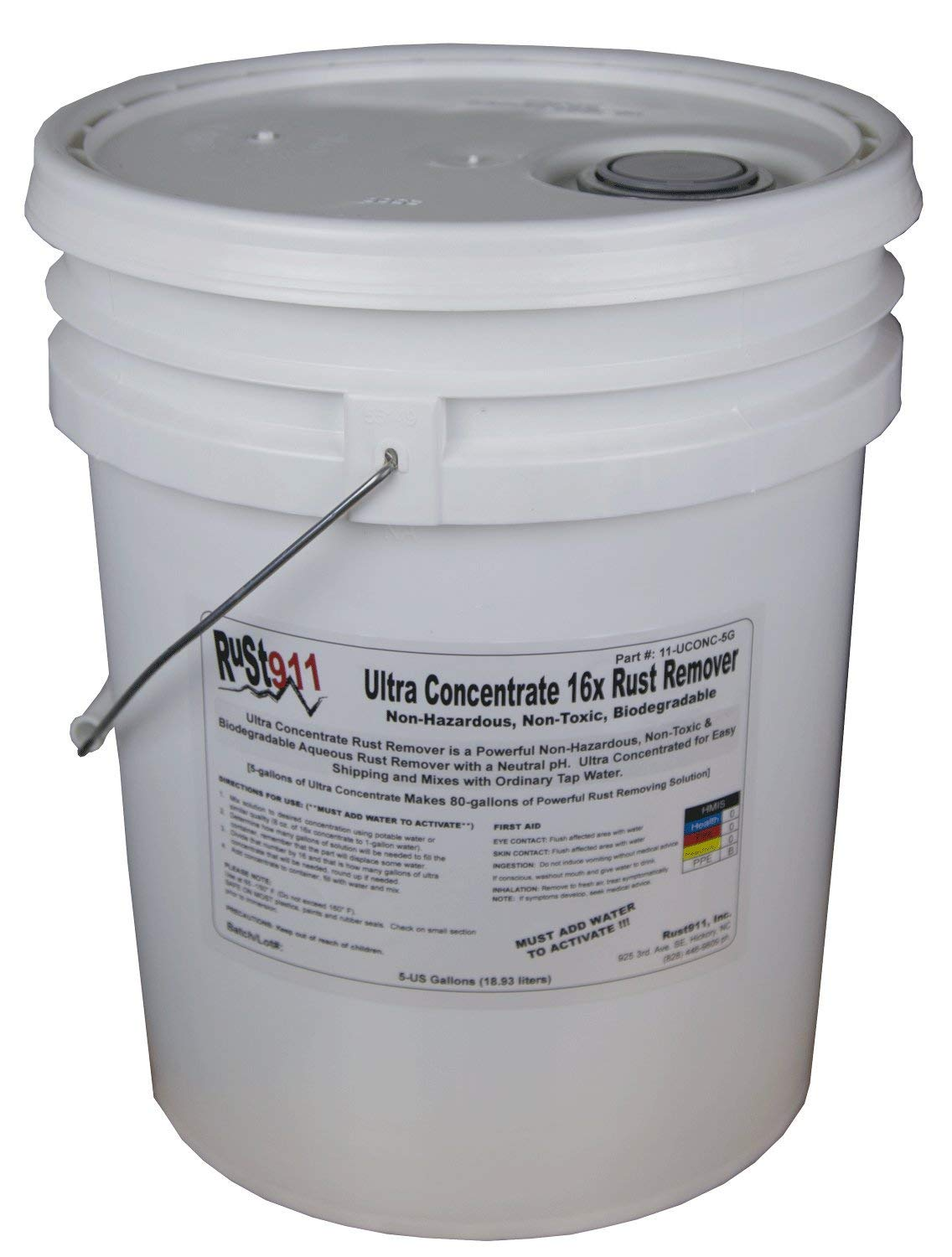 Rust911: Rust Remover Dissolver Makes 80-gallons of Economical, Safe-to-Use and Powerful Cleaner for All Your Oxidation Removal Treatments