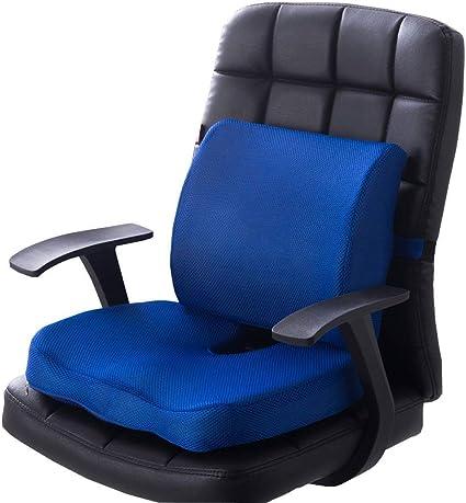 Zxt Memory Foam Pad Waist Support Cushion Office Chair Car Seat Cushion Ultimate Comfort Set For Relieving Back Pain Tail Bone Pain Sciatica Cushion Amazon De Kuche Haushalt