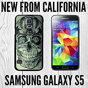 Illuminati Skull Custom made Case/Cover/Skin FOR Samsung Galaxy S5-Black- Plastic Snap On Case