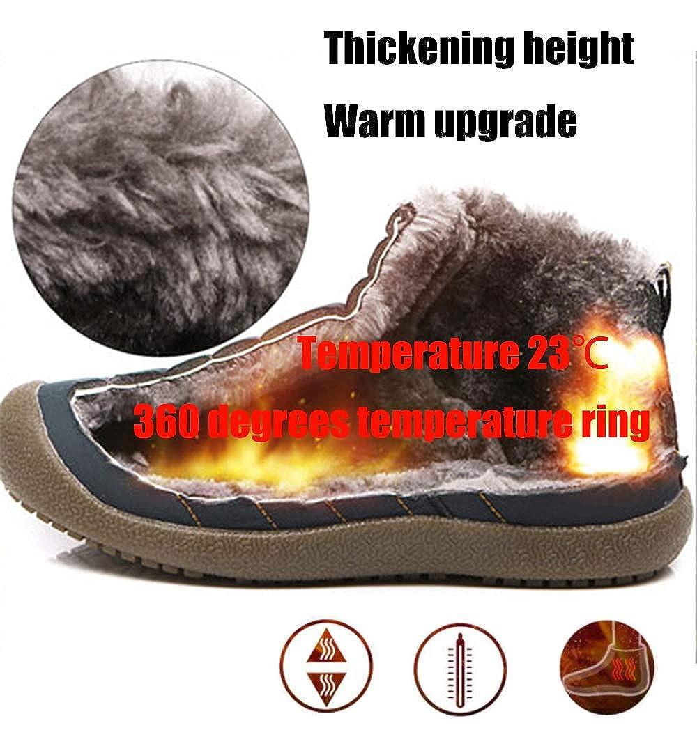 Botas de Nieve Hombre Mujer Botas de Invierno Cortas Fur Aire Libre Boots Botines Ni/ños Invierno Botines Ante Anti-Deslizante Zapatos Calentar Botas Zapatos de algod/ón para Padres e Hijos EU 28-48