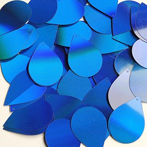 Blue Laser Sheen Reflective Metallic Tear Drop 1.5