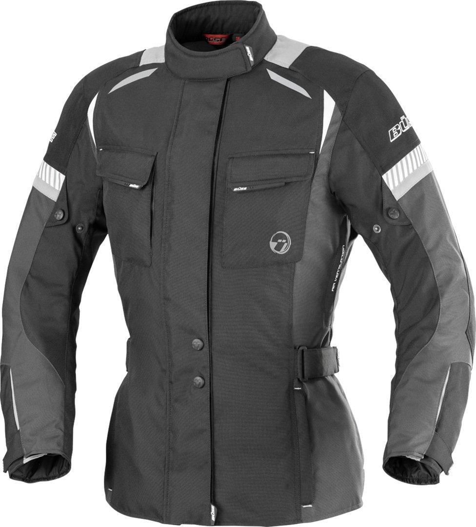 B/üse Breno Damen Motorrad Textiljacke 38 Schwarz//Grau