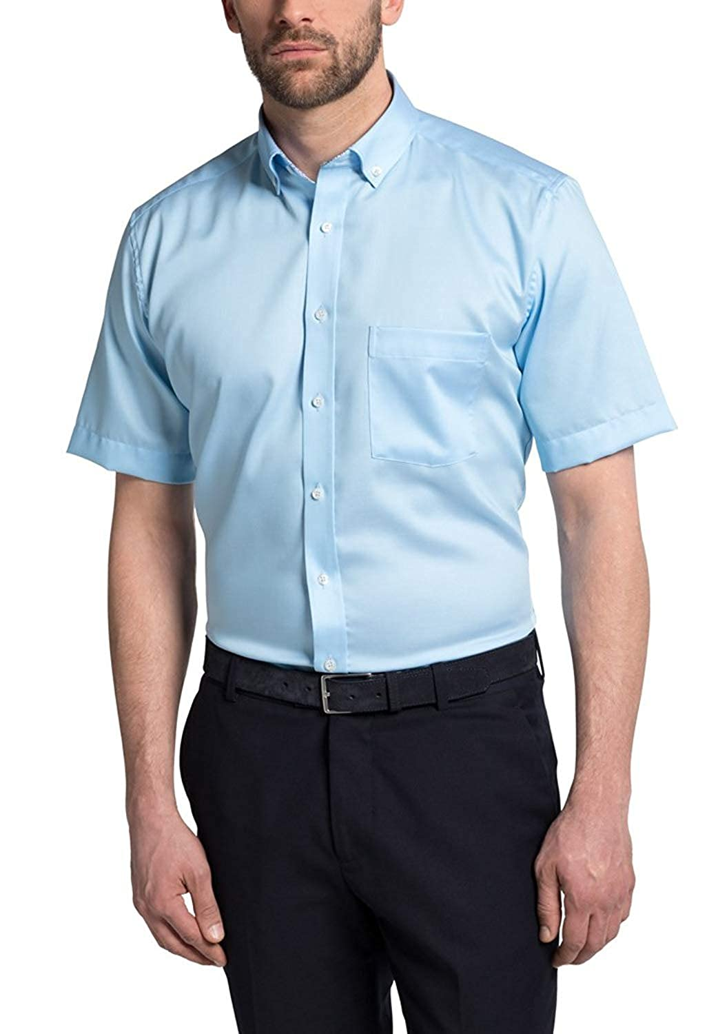 Eterna Half Sleeve Shirt Modern FIT Fancy Weave Structured