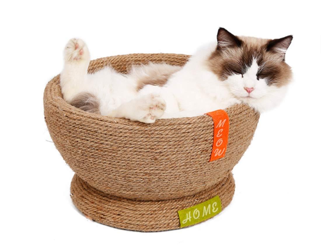 IW.HLMF Pet Gatto gratta e afferra Cartone Ondulato Ciotola di Carta con Catnip Cartone Ciotola afferrare rettifica Artiglio Gatti Sleeping Bed House