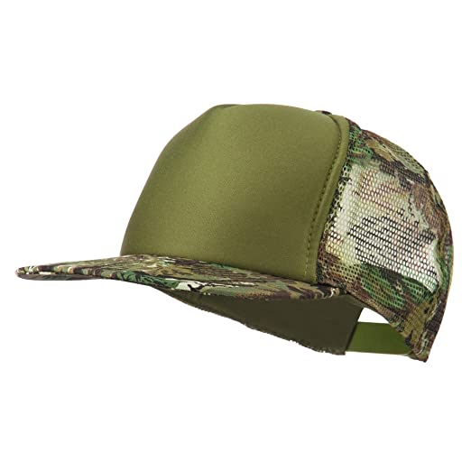 Camouflage Foam Trucker Snapback Cap - Loden Olive OSFM at Amazon ... d5c482cc628