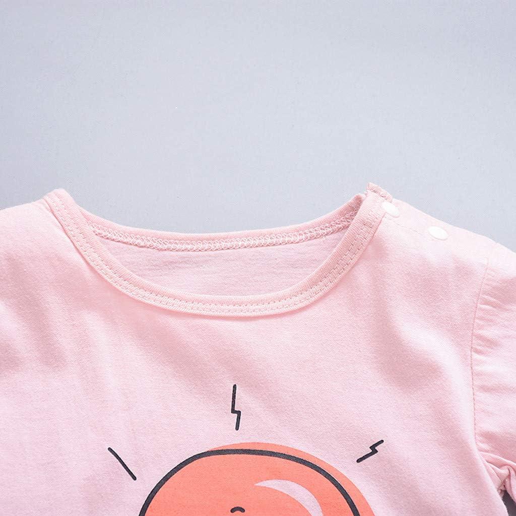 QXLhxuIo 0M-18M Jungen-bequemer Spielanzug-M/ädchen Junge-Kurzarm-Overall Baby Sun Cloud Moon Print Strampler Set Warmer Overall Einteiliges
