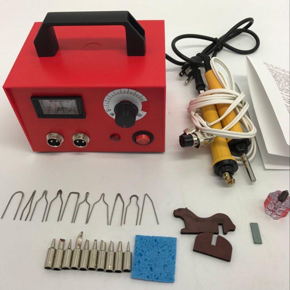 iMeshbean 100W 110V Pyrography Machine Gourd Wood Burning Pens Crafts Tools Kit Steel Case