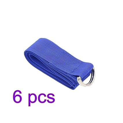 Amazon.com : JUMOWA D-Ring Buckle Yoga Strap, Adjustable ...
