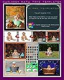 DIGITAL BATH TIME PHOTO STUDIO PROPS PSD TEMPLATES - NEWBORN BABIES CHILDREN