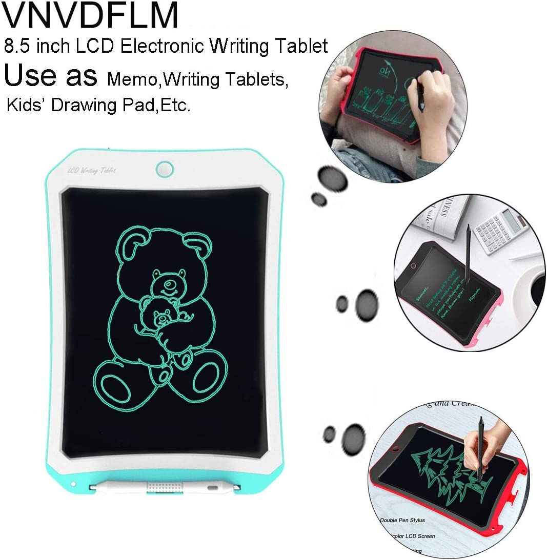 DS-Pink-White Meet sun Birthday Gift for 4-5 Years Old Kids /& Adults LCD Writing Tablet with Stylus Smart Paper for Drawing Writer 8.5 Inch Writing /&Drawing Board Doodle Board Toys for Kids