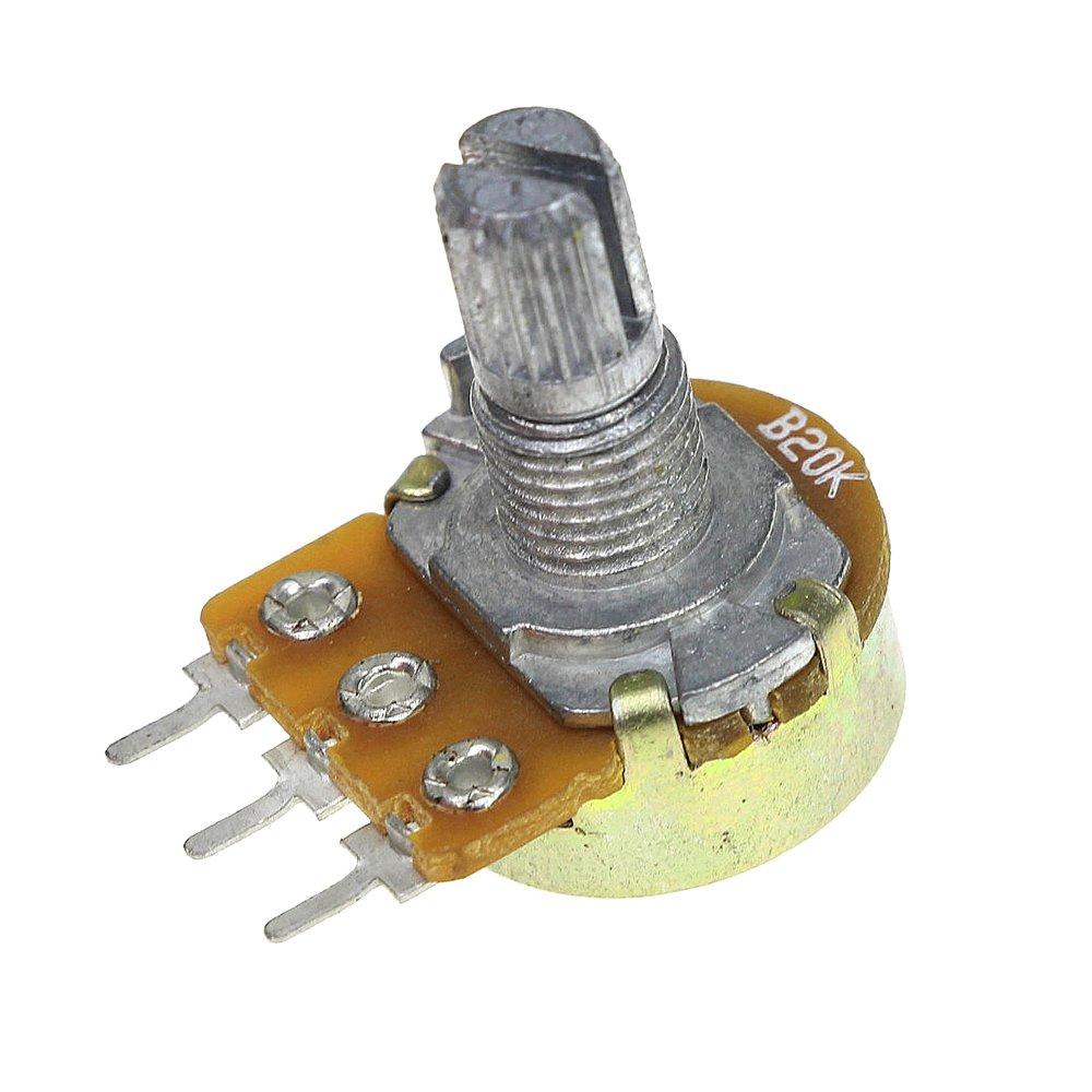Adjustable Resistance B10k Variable Resistor Linear Taper Manual Guide