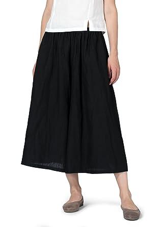36e97270c6 Vivid Linen Low Rise Wide Leg Pants at Amazon Women s Clothing store