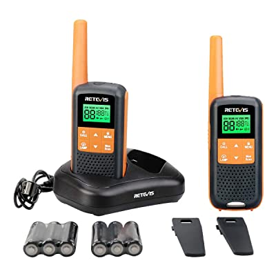 Retevis RT49 Walkie Talkies for Adults Rechargeable FRS NOAA Weather Alert LCD AA Battery Flashlight Dual Watch VOX Waterproof Two-Way Radios(2 Pack): Car Electronics [5Bkhe0111537]
