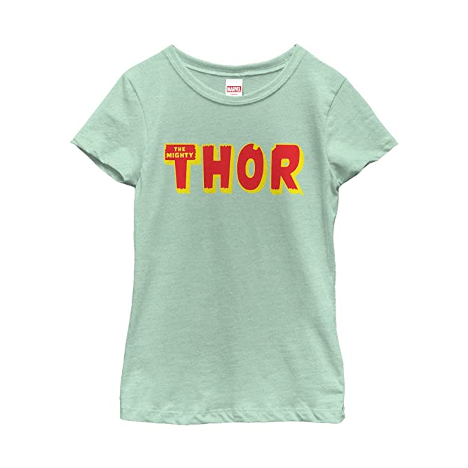 Amazon Marvel Girls Thor Text Logo T Shirt Clothing