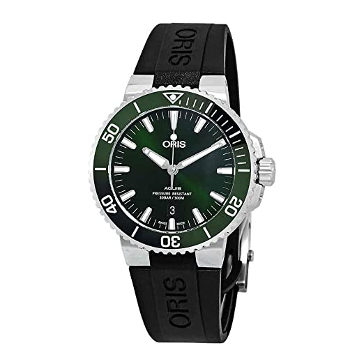 60a4a11a481 Oris Aquis Date Automatic Green Dial Men s Watch 01 733 7730 4157-07 4 24  64EB  Amazon.co.uk  Watches