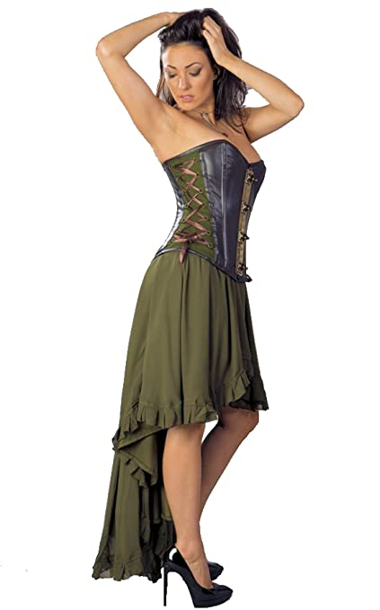 Steampunk Skirts | Bustle Skirts, Lace Skirts, Ruffle Skirts Burleska Womens Steampunk Elizium Skirt $74.99 AT vintagedancer.com