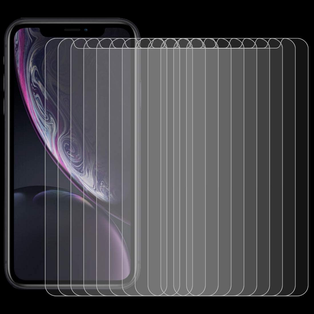 CHENNAN 100 PCS 0.26mm 9H 2.5D Tempered Glass Film for iPhone XR Glass Phone Screen Protectors