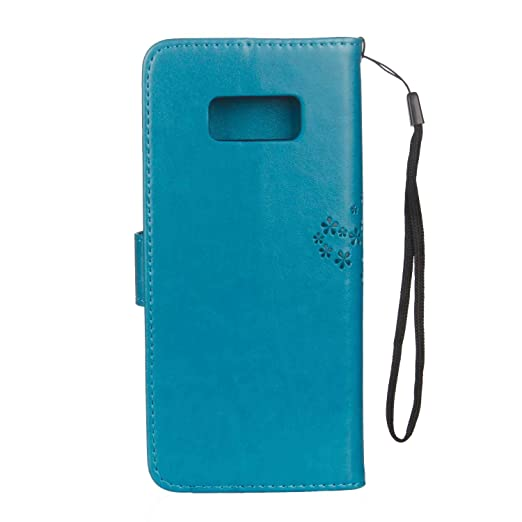 Protector de Pantalla de Vidrio Templado Gratis Ranuras para Tarjetas Funda para Samsung Galaxy Note 8 The Grafu/® Billetera Magn/ético Cuero Azul Funda Galaxy Note 8