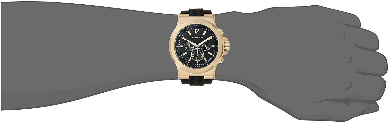 e6db01b5e87e Amazon.com  Michael Kors Men s Dylan Black Watch MK8445  Michael Kors   Watches
