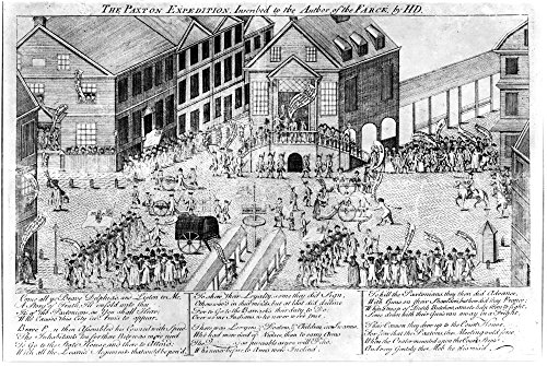 Paxton Expedition 1764 NphiladelphiaS Preparations To Repel The Paxton Expedition 1764 Shown Are The Old Court House On Second Street And The Buildings Around It Line Engraving C1764 By Henry Dawkins