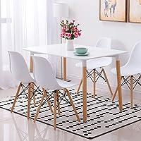 Conjunto de mesa de comedor con 4 sillas
