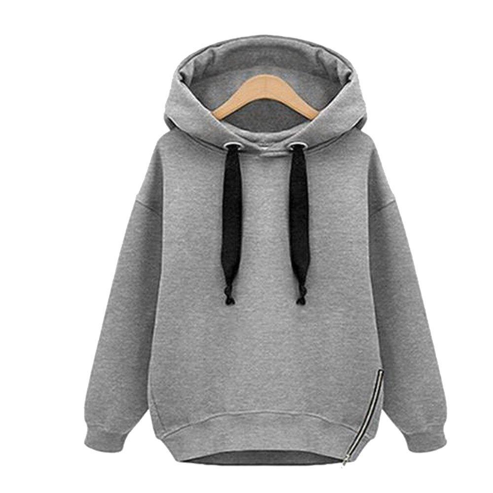 Vertvie Femme Sweat-Shirt à Capuche Lâche Fleece Blouse Hoodie Tops Casual  Uni Automne Printemps  Amazon.fr  Vêtements et accessoires 72292be474b