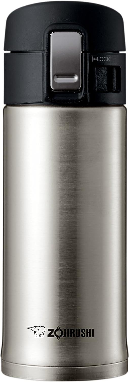 Zojirushi SM-KHE36XA 0.36-Liter Stainless Steel Travel Mug, 12-Ounce, Silver