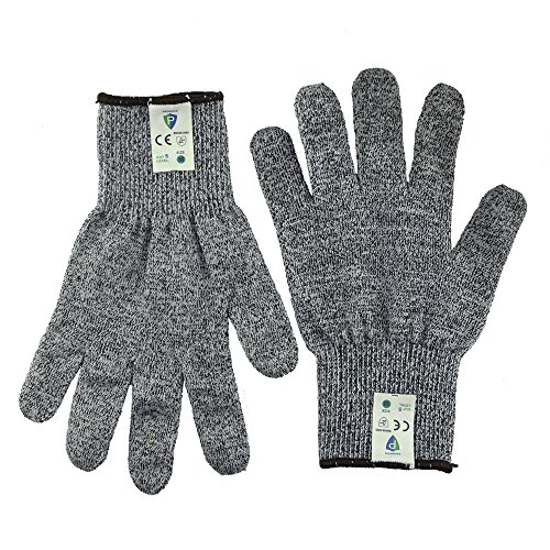 Cut Resistant Gloves Protective Gloves-Promedix High Performance Level 5 Protection, Food Grade Kitchen Glove for Hand Safety while Cutting, doing Yard Work, Kitchen Glove 1 Pair (Large)