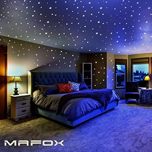 MAFOX Glow Stars Ceiling Stickers