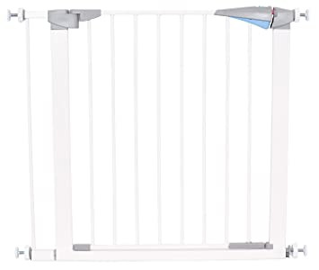 Amazon Com Safety Pet Gate With Door Fits Spaces 27 5 To 34 Inch