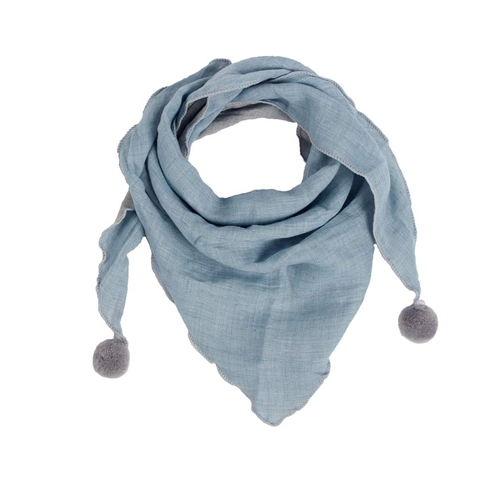 Leisial Autumn And Winter New Children'S Casual Solid Color Thick Triangle Scarf Men'S And Women'S General Korean Casual Scarf Boys And Girls Baby Wild Scarf Leisial.