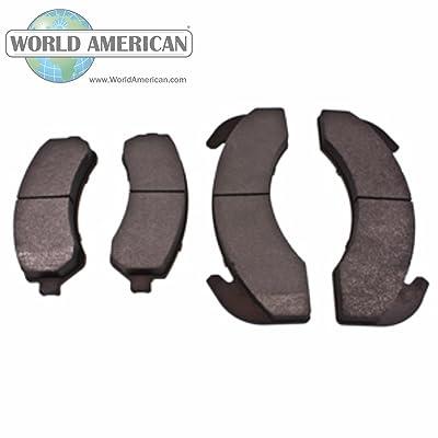 World American WAD225 Brake Pad Set: Automotive [5Bkhe1511643]