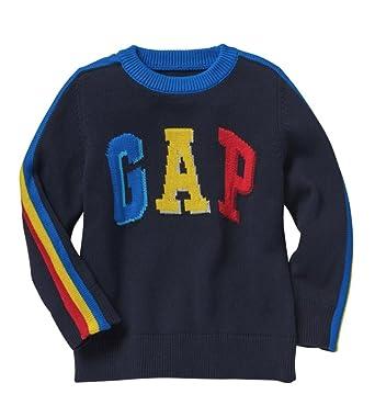 b7a9f3914 Amazon.com: GAP Baby Boys Intarsia Logo Sweater (3 Years): Clothing